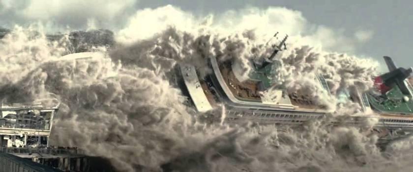 Cruise ship wave