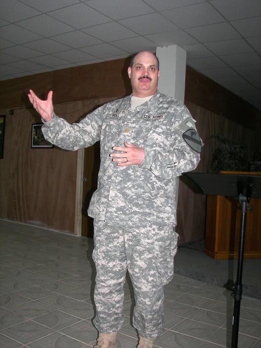 Preaching Taji, Iraq 2007