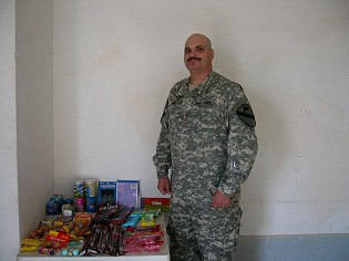 Donated items for our Soldiers