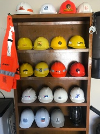 My railroad Hard Hat Collection