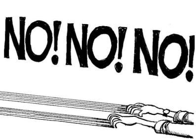 No NO NO drag